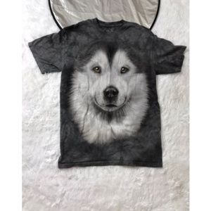 BIG FACE WOLF,THE MOUNTAIN BRAND  MENS SIZE MEDIUM